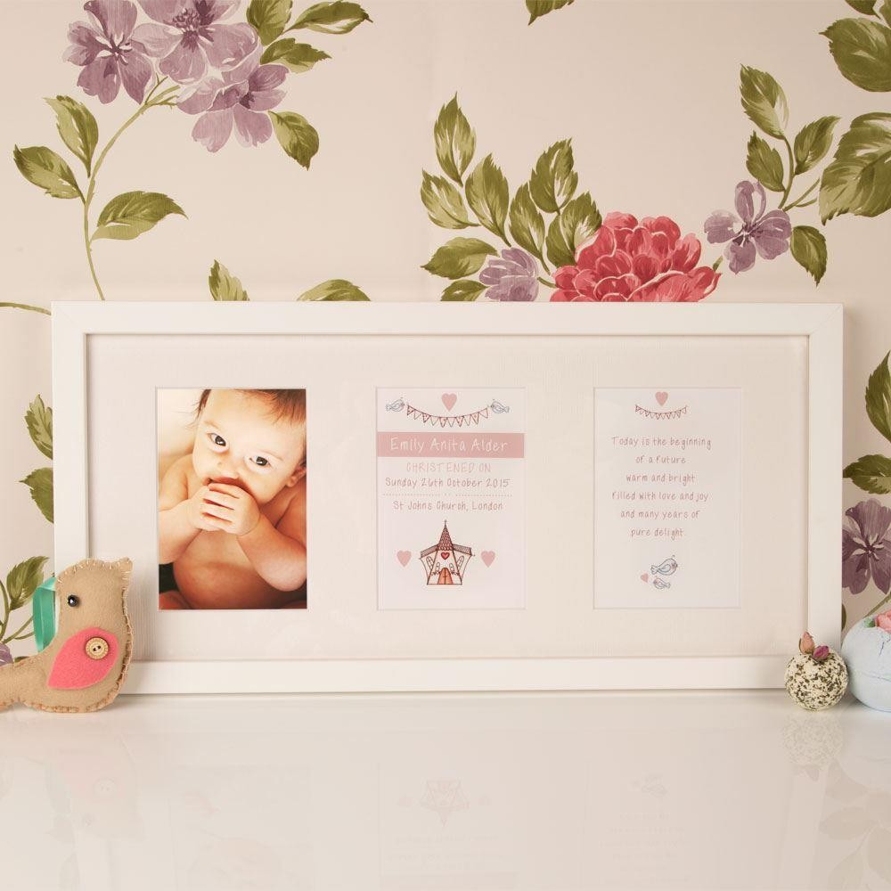 Personalised Christening Baptism Church 3 Aperture Frame