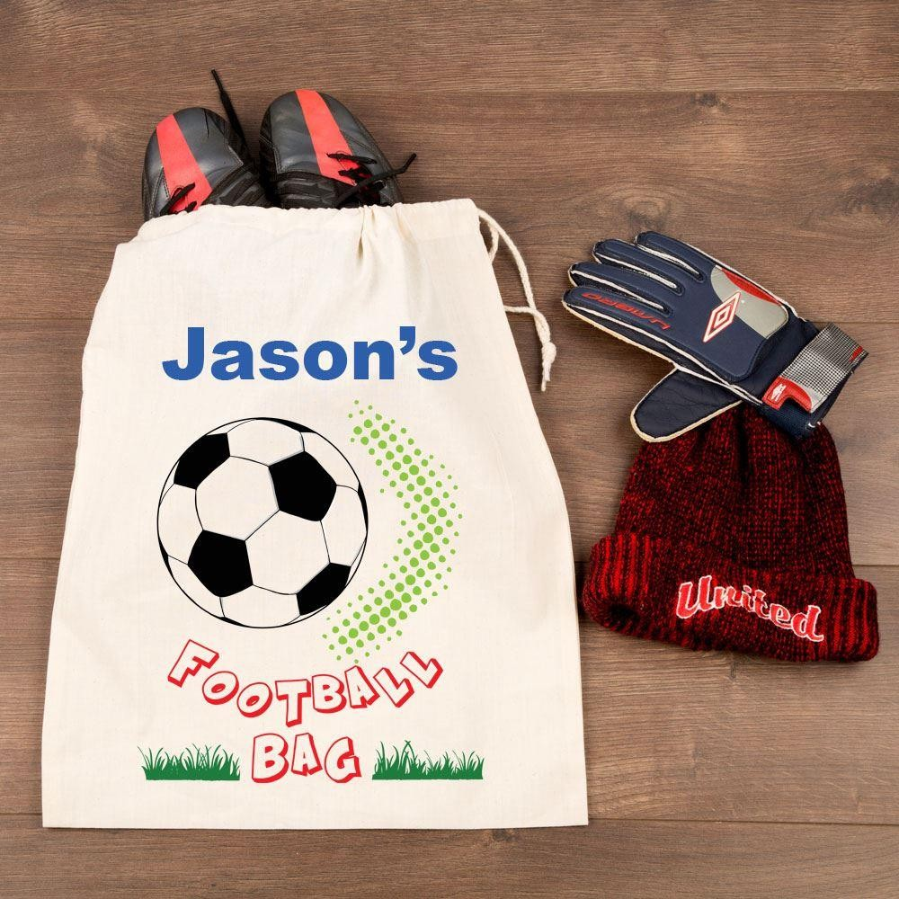Personalised Football Boots Drawstring Bag Forever Bespoke