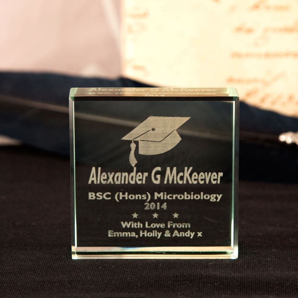 Graduation Glass Keepsake