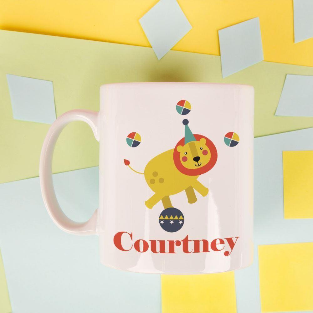 Customised Circus Lion Mug