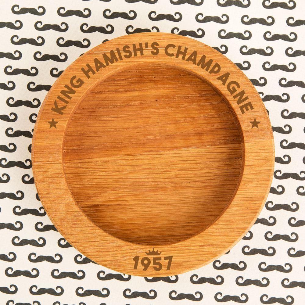 King Customised Wine Bottle Coaster
