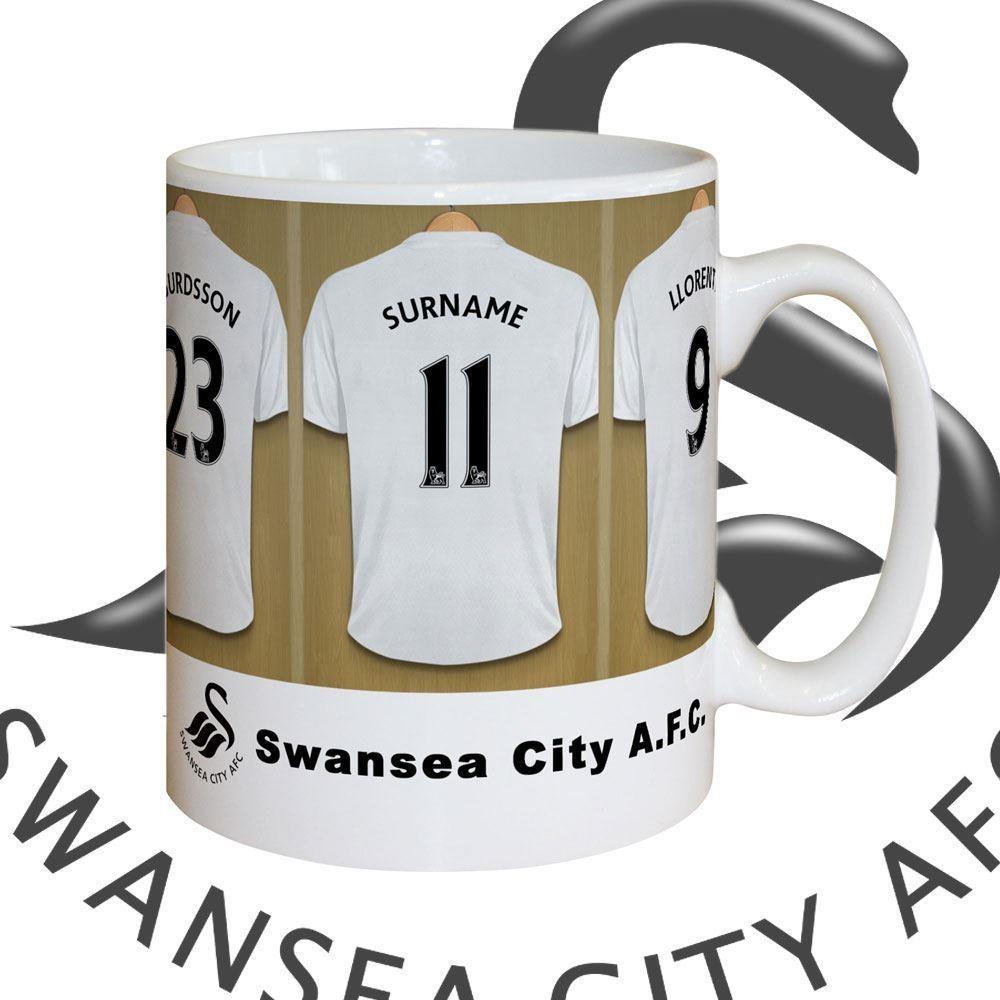 Bespoke Swansea AFC City Dressing Room Mug
