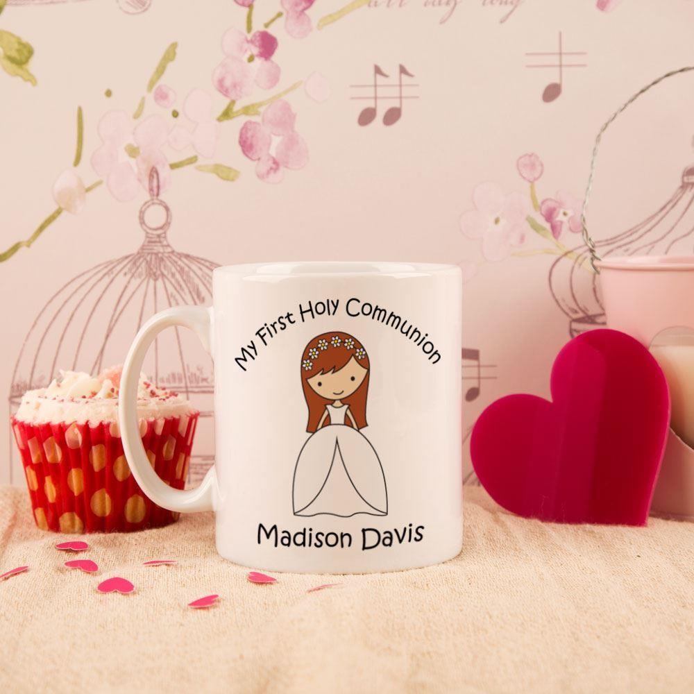 Personalised Communion Girl Mug
