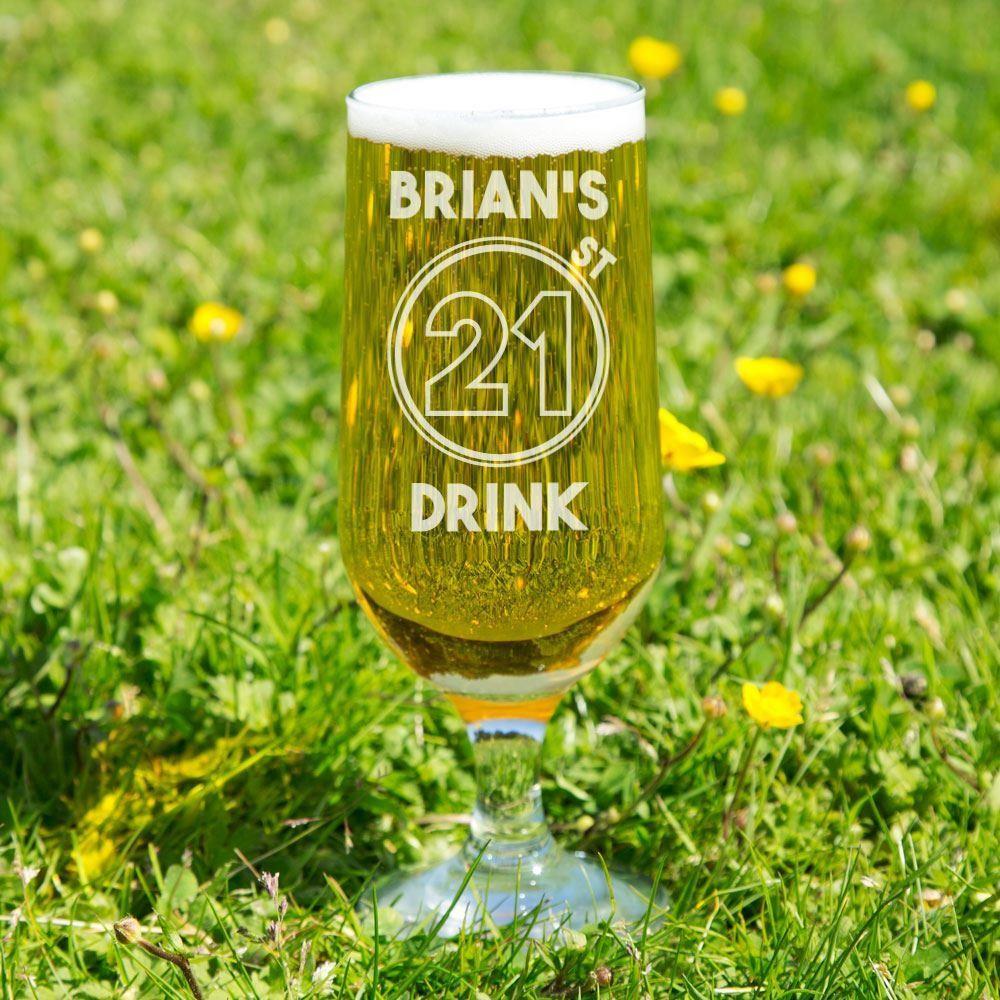 21st Drink Personalised Beer Glass