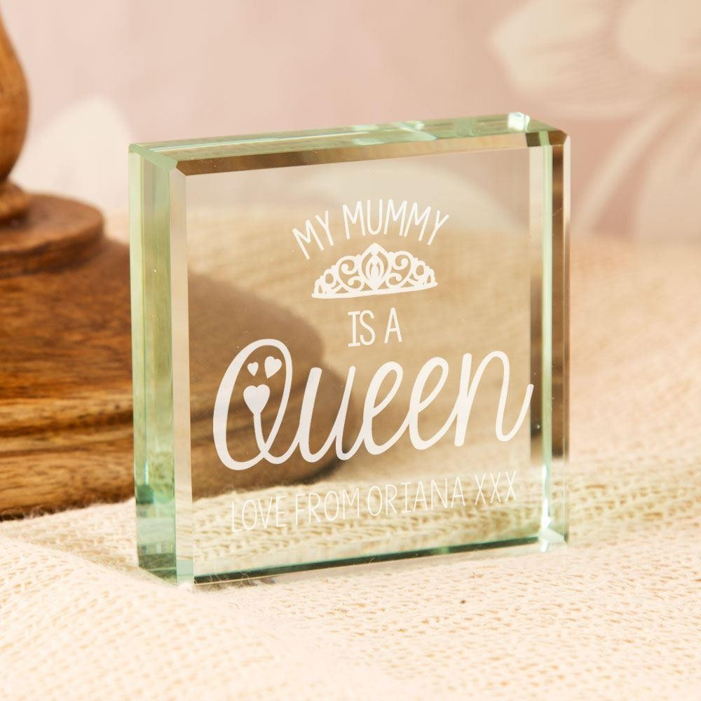 My Mummy is a Queen Personalised Glass Keepsake