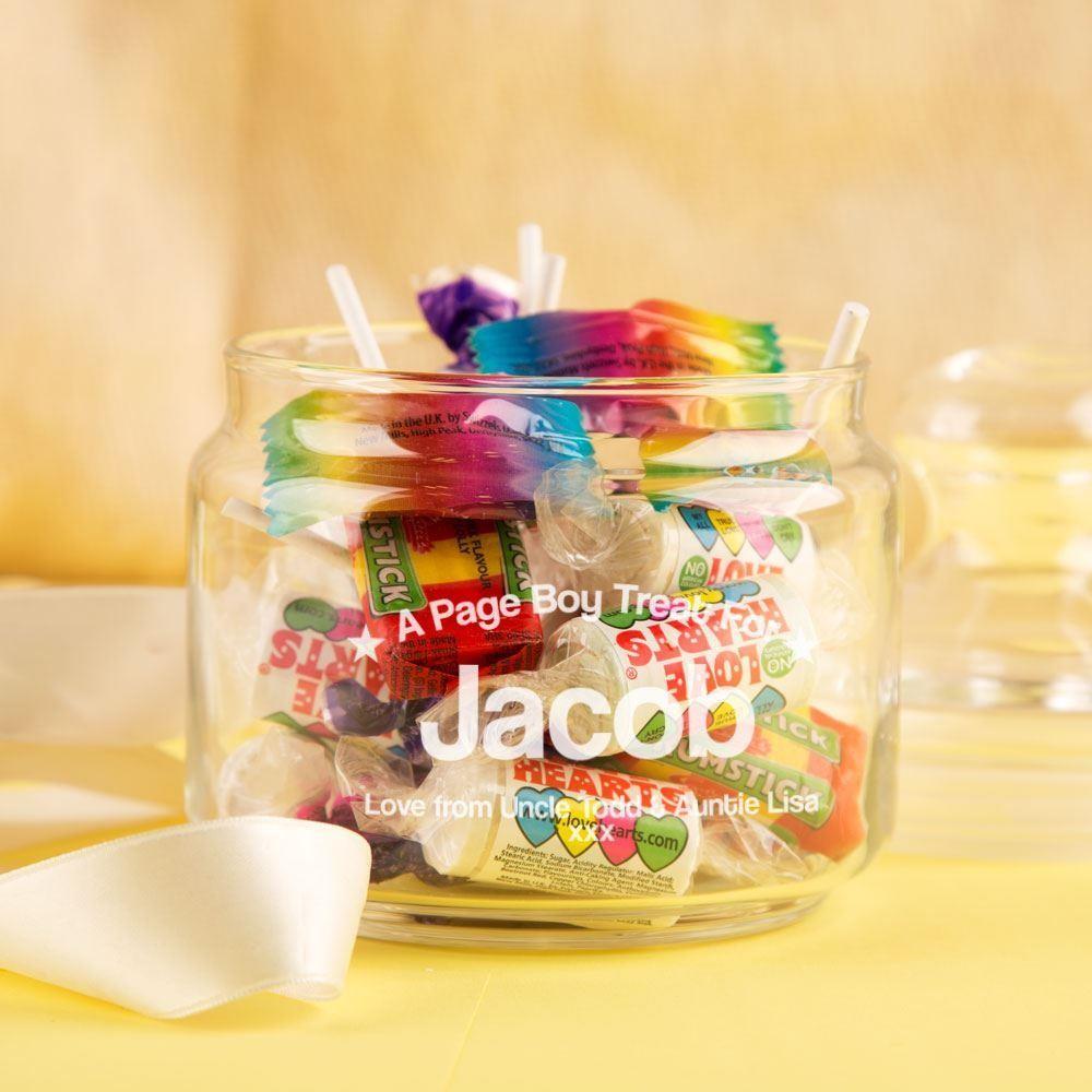 Customised Page Boy Sweet Jar