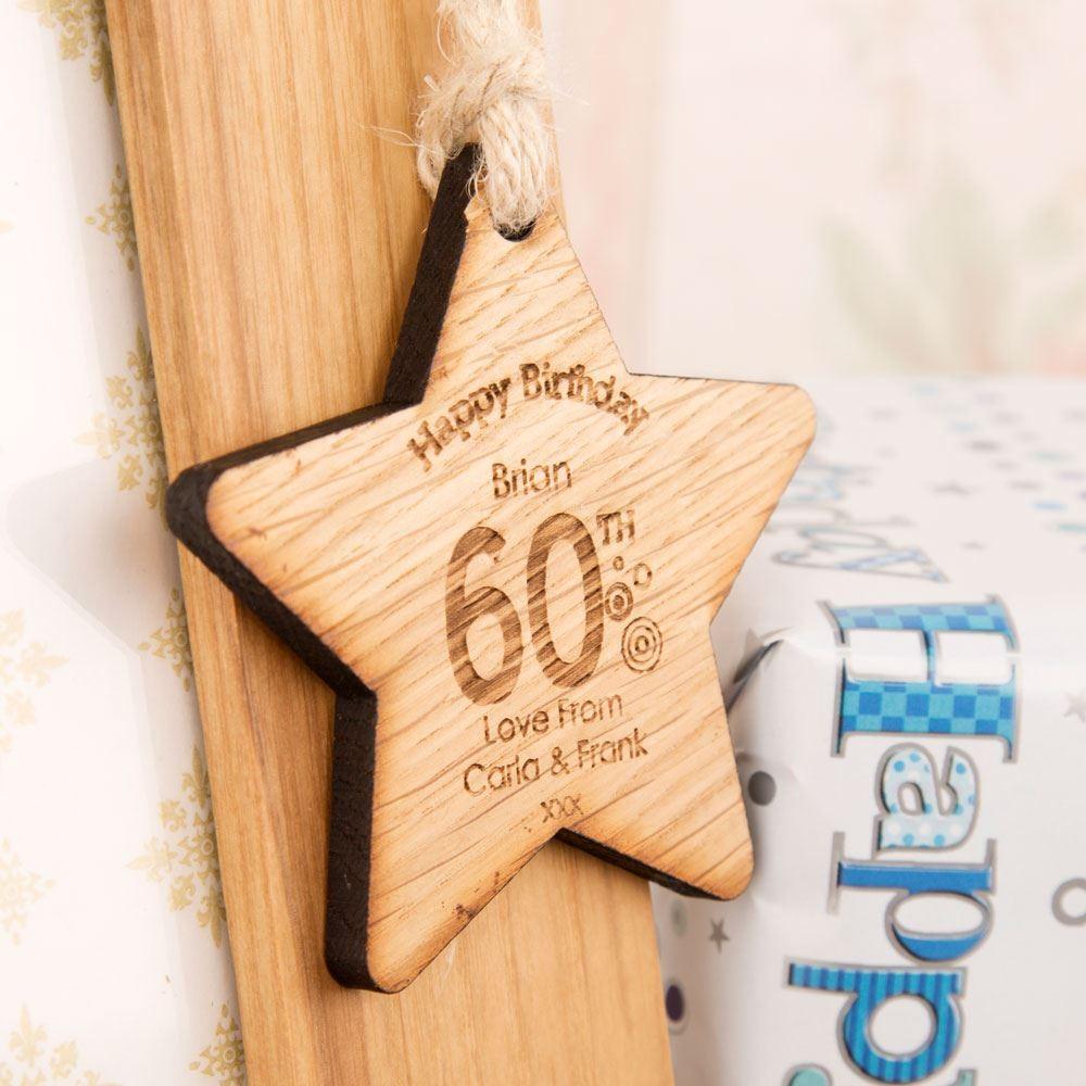 60th Birthday Wooden Star