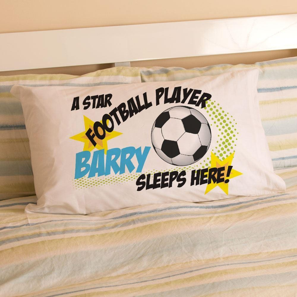 Personalised Footballer Pillowcase