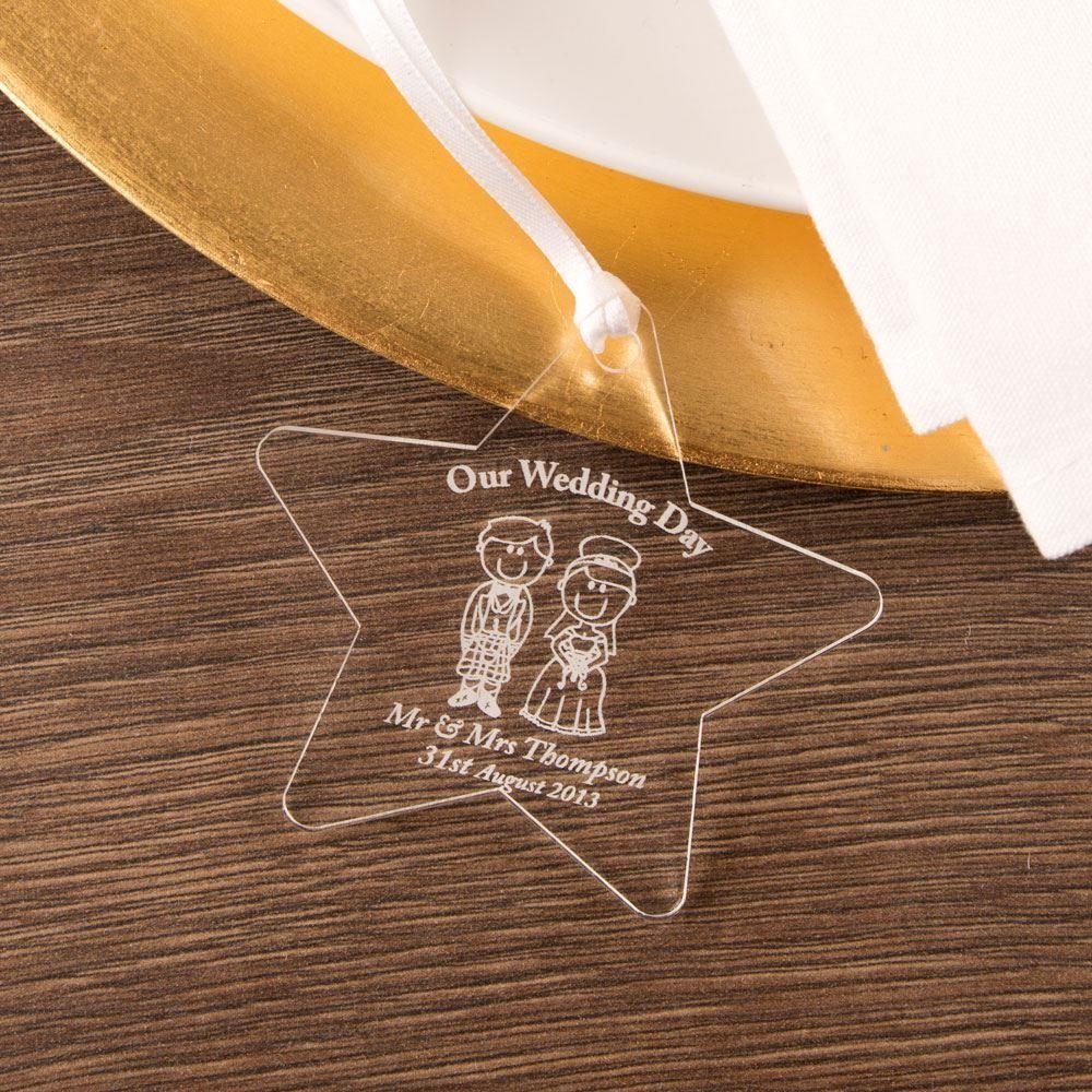 Personalised Bride & Groom Star: Scottish