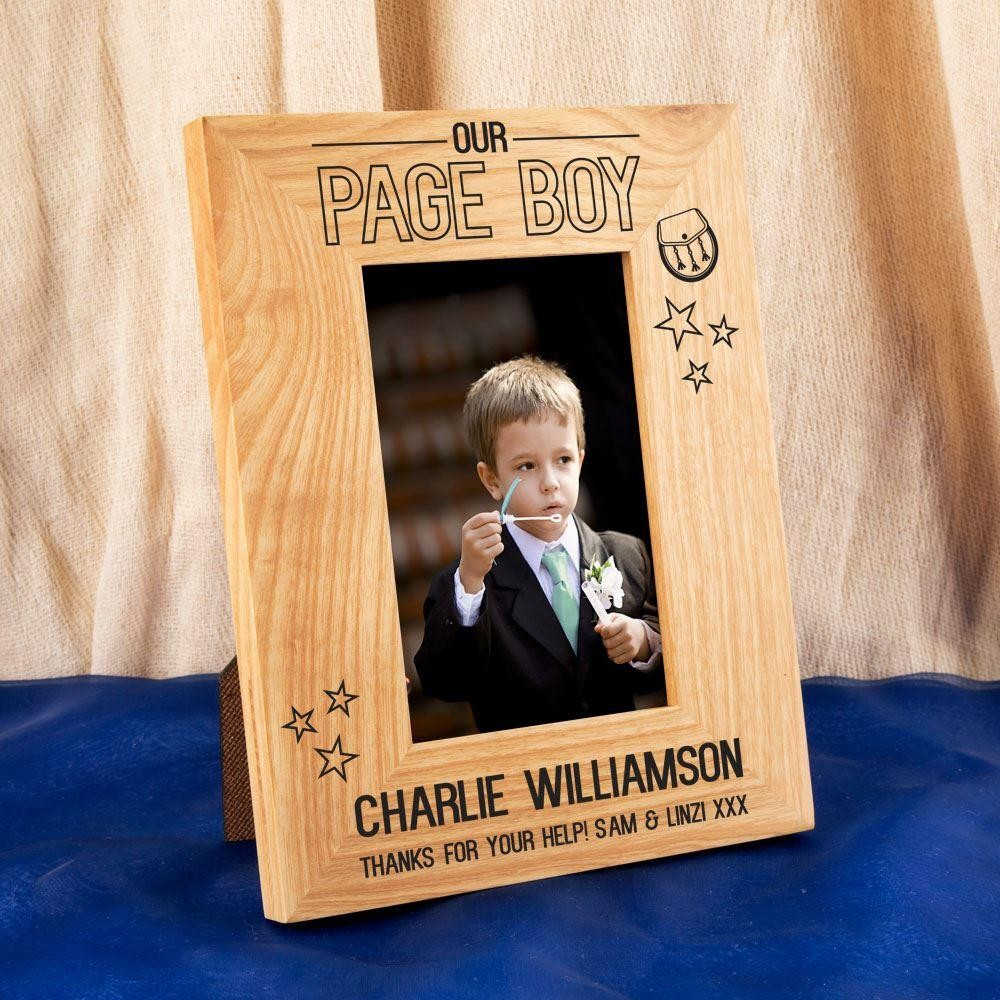 Scottish Page Boy Oak Photo Frame