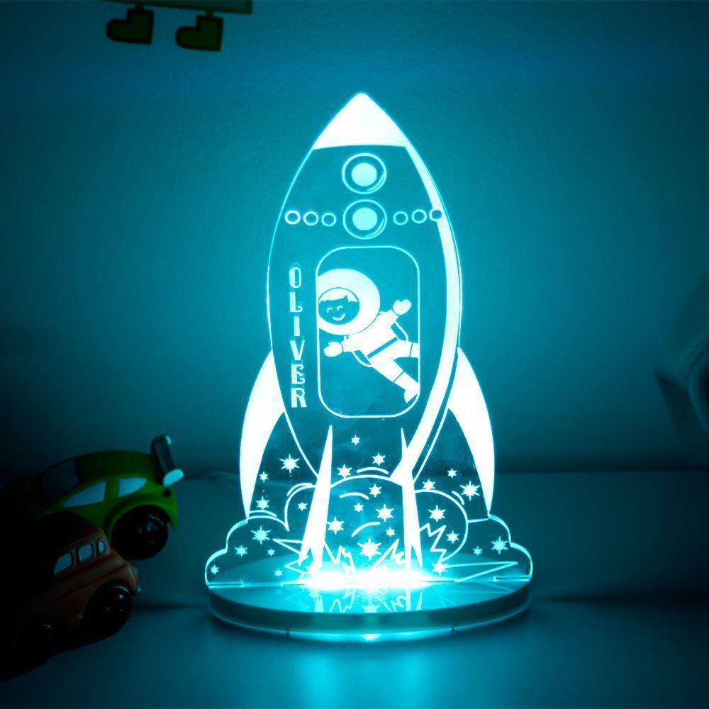 Personalised Rocket Night Light