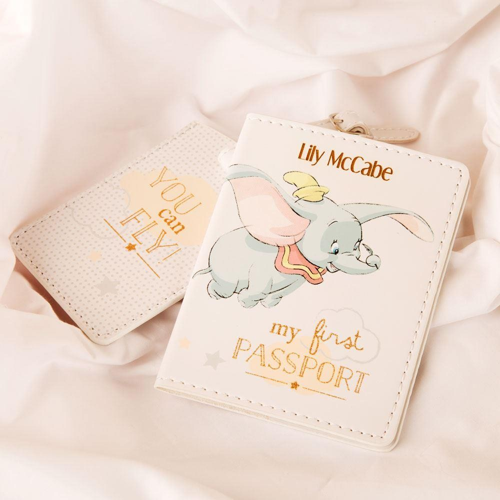1st birthday ideas personalised birthday gifts forever bespoke dumbo engraved first passport and luggage tag set negle Gallery