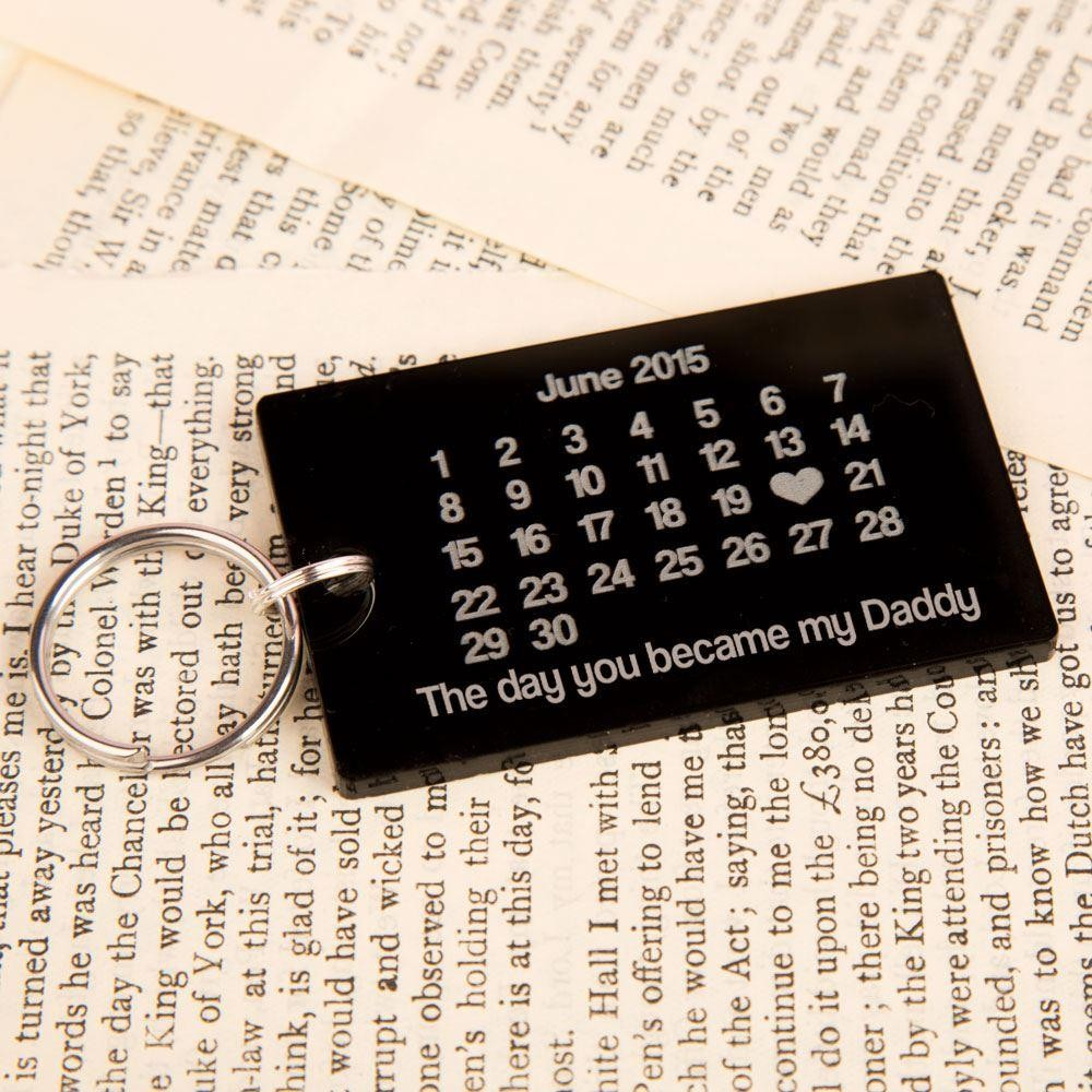 The Day You Became My Daddy Keyring