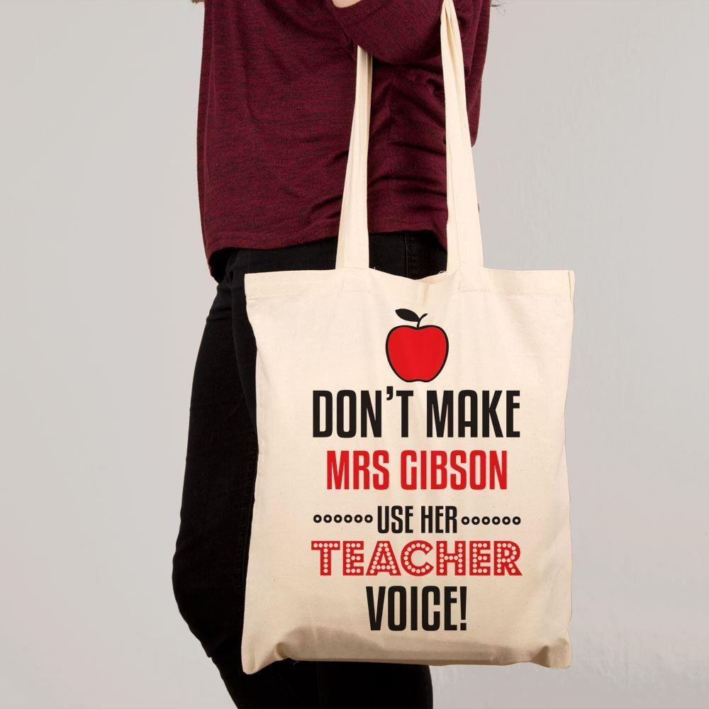 Custom Teacher Voice Shoulder Bag