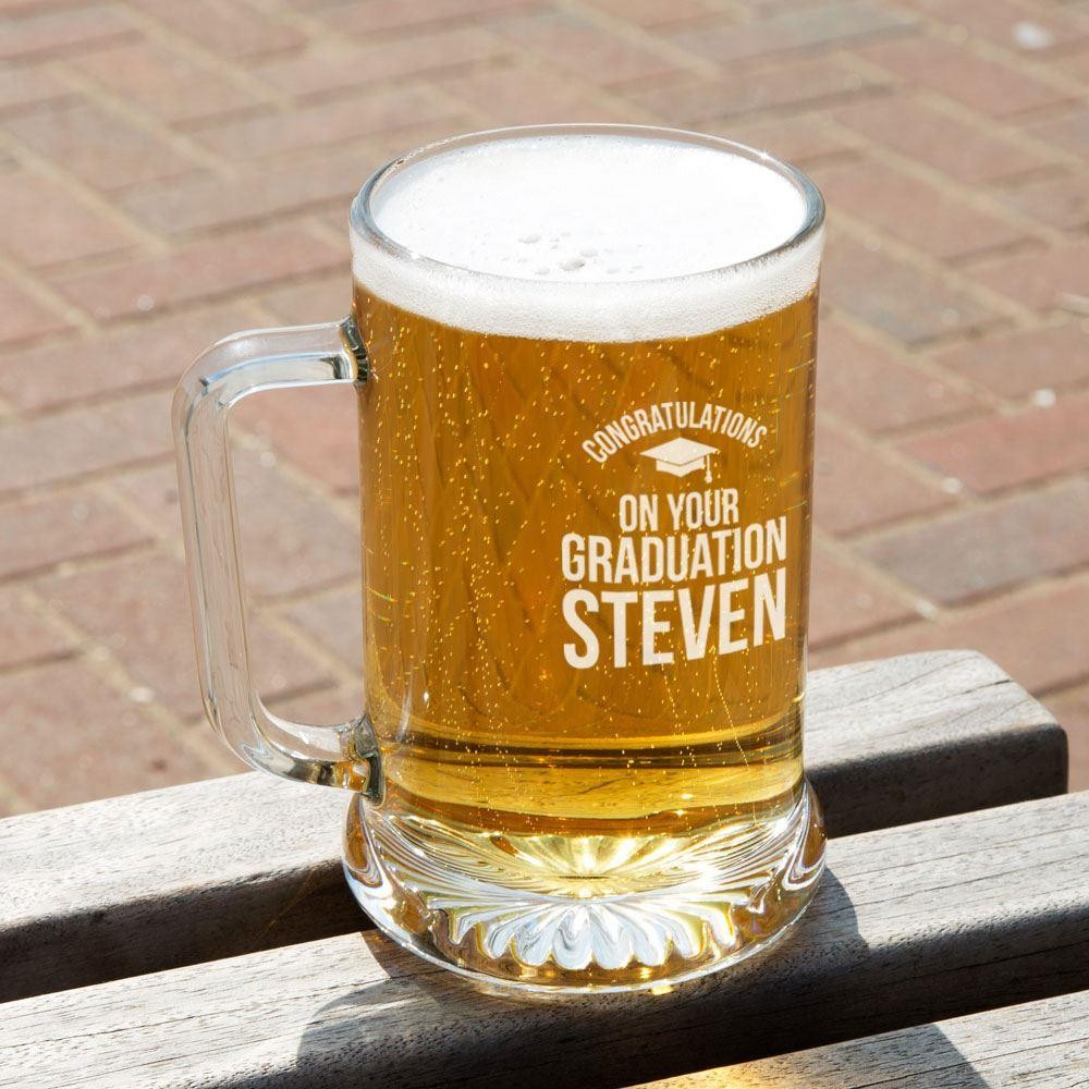 Graduation Customised Glass Beer Tankard: Special Offer