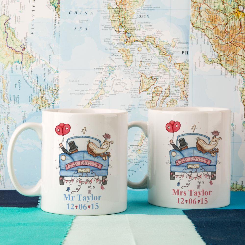 Personalised Wedding Mug Set
