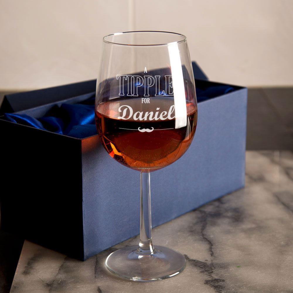 Customised Tipple Wine Glass