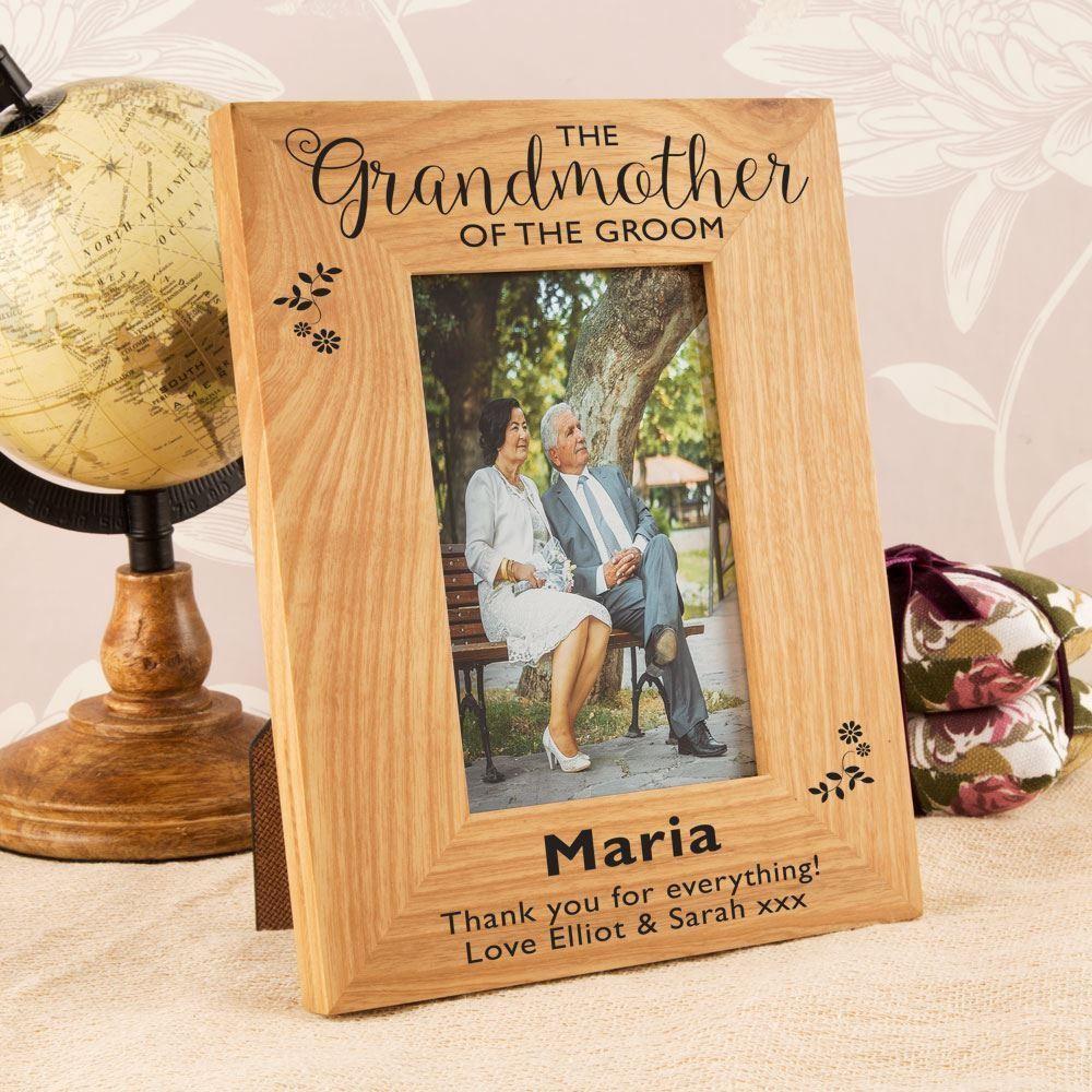 Grandmother of the Groom Oak Photo Frame