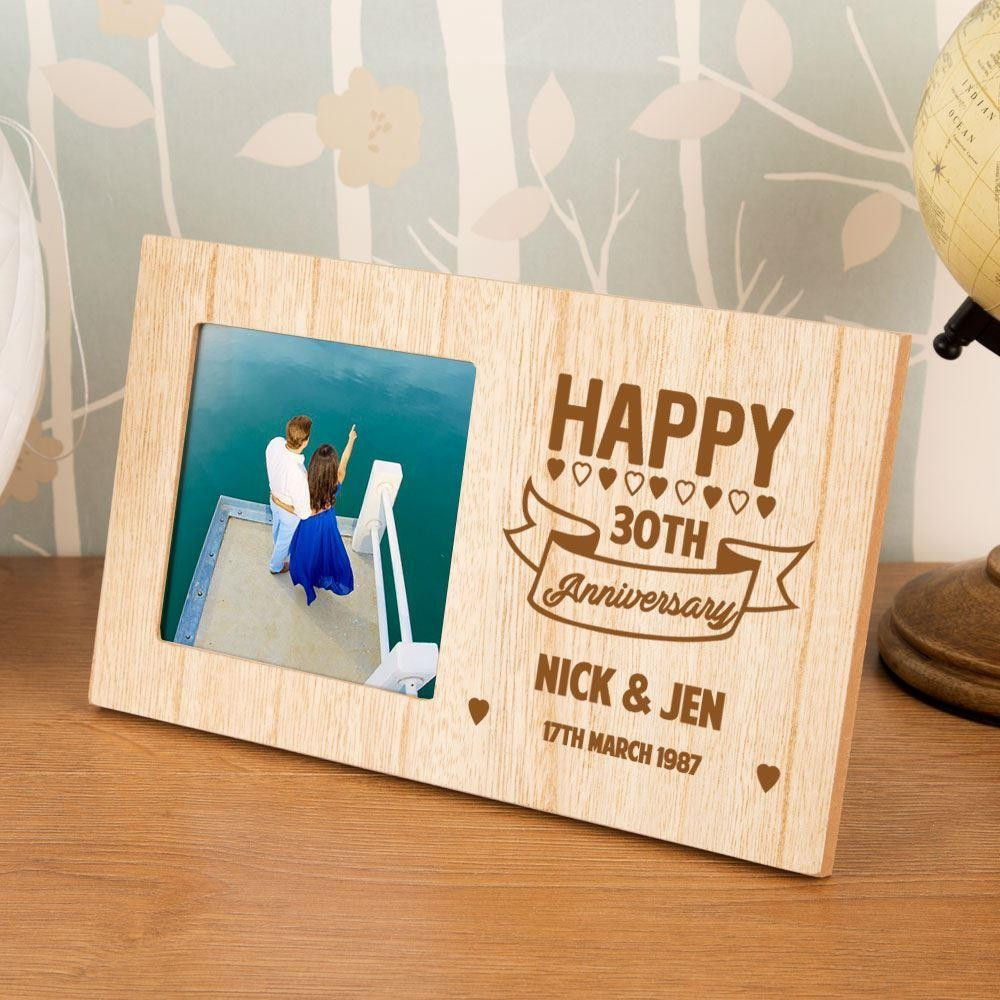 30th Wedding Anniversary Customised Photo Frame