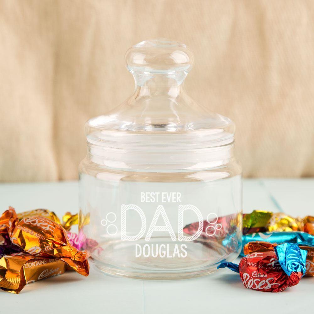 Best Dad Customised Glass Sweet Jar