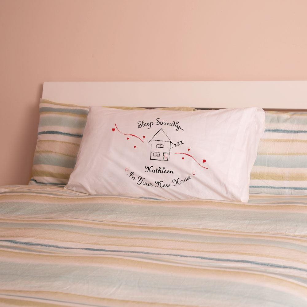 Personalised New Home Pillowcase