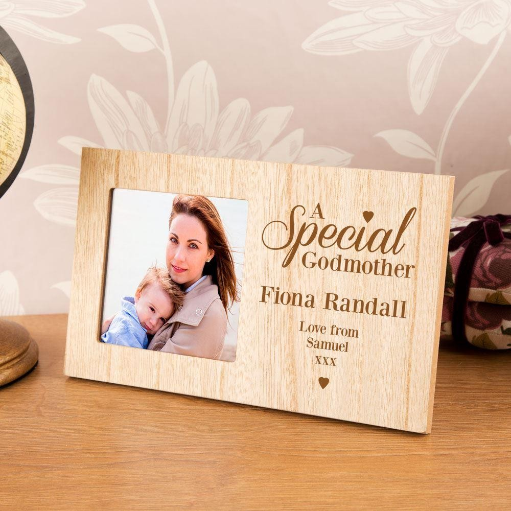 Engraved & Personalised Special Godmother Photo Frame