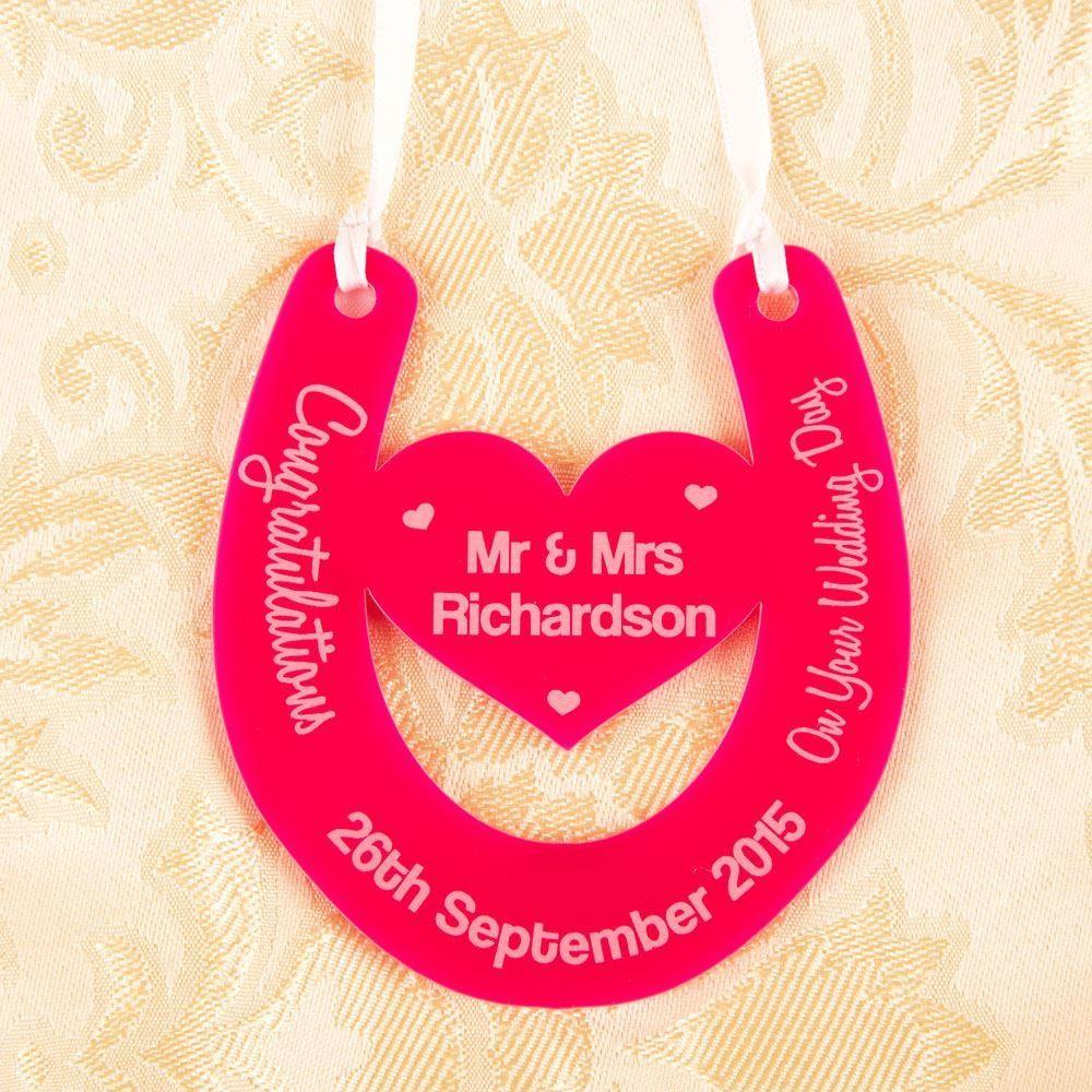 Personalised Wedding Day Horse Shoe