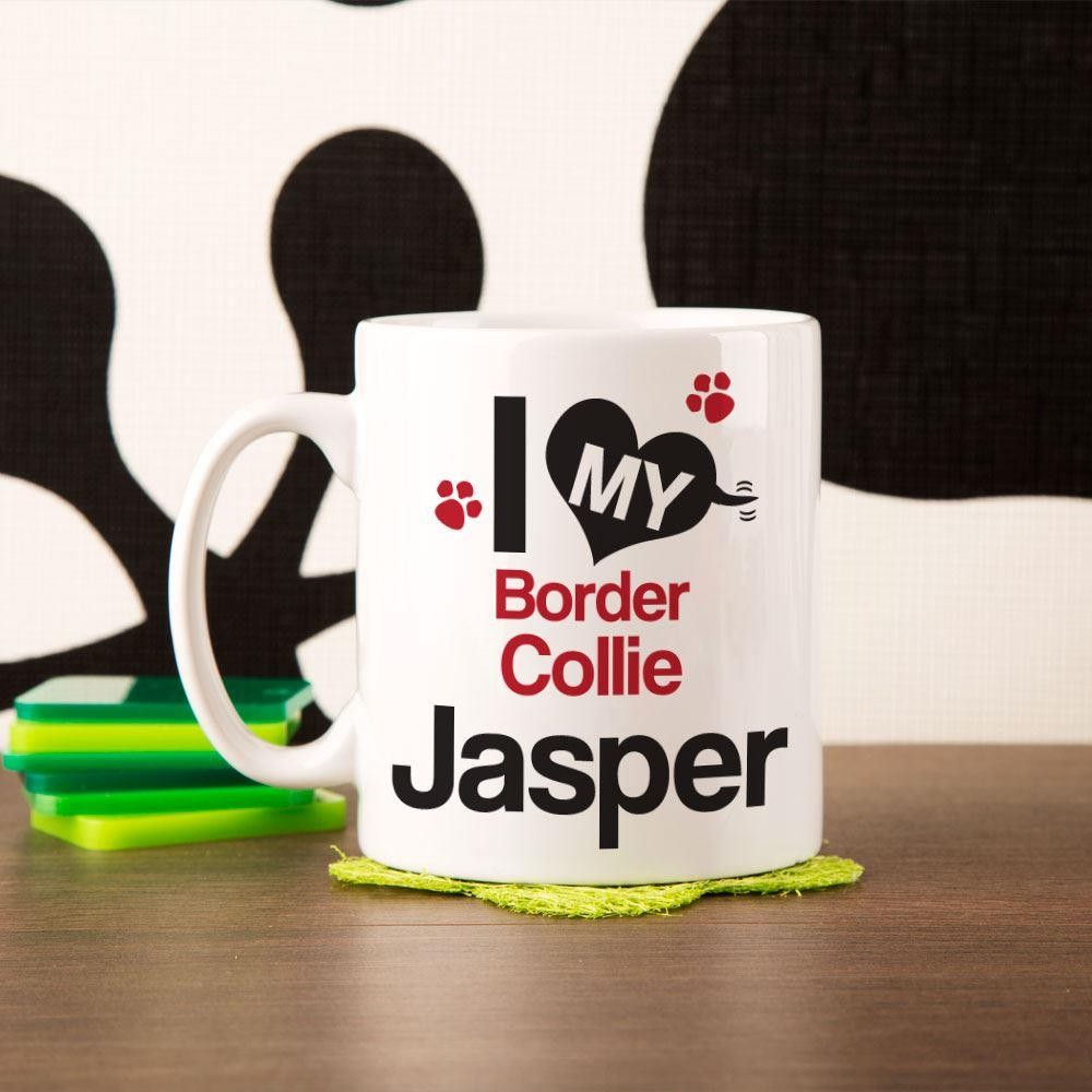 Personalised Love My Dog Mug