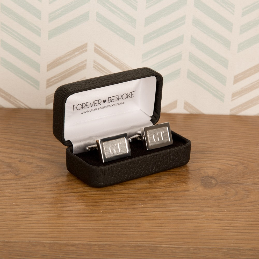 Brushed Silver Cufflinks