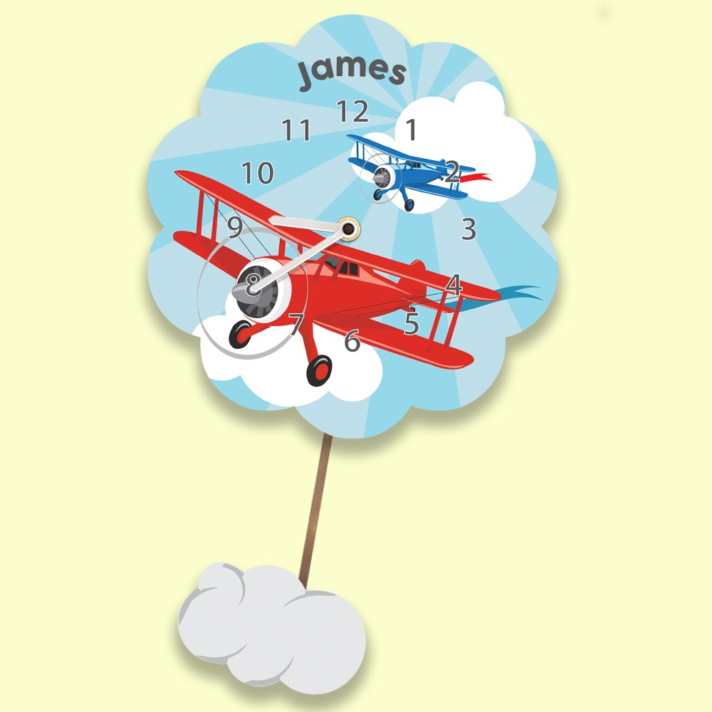 Customised Airplane Silent Wall Clock