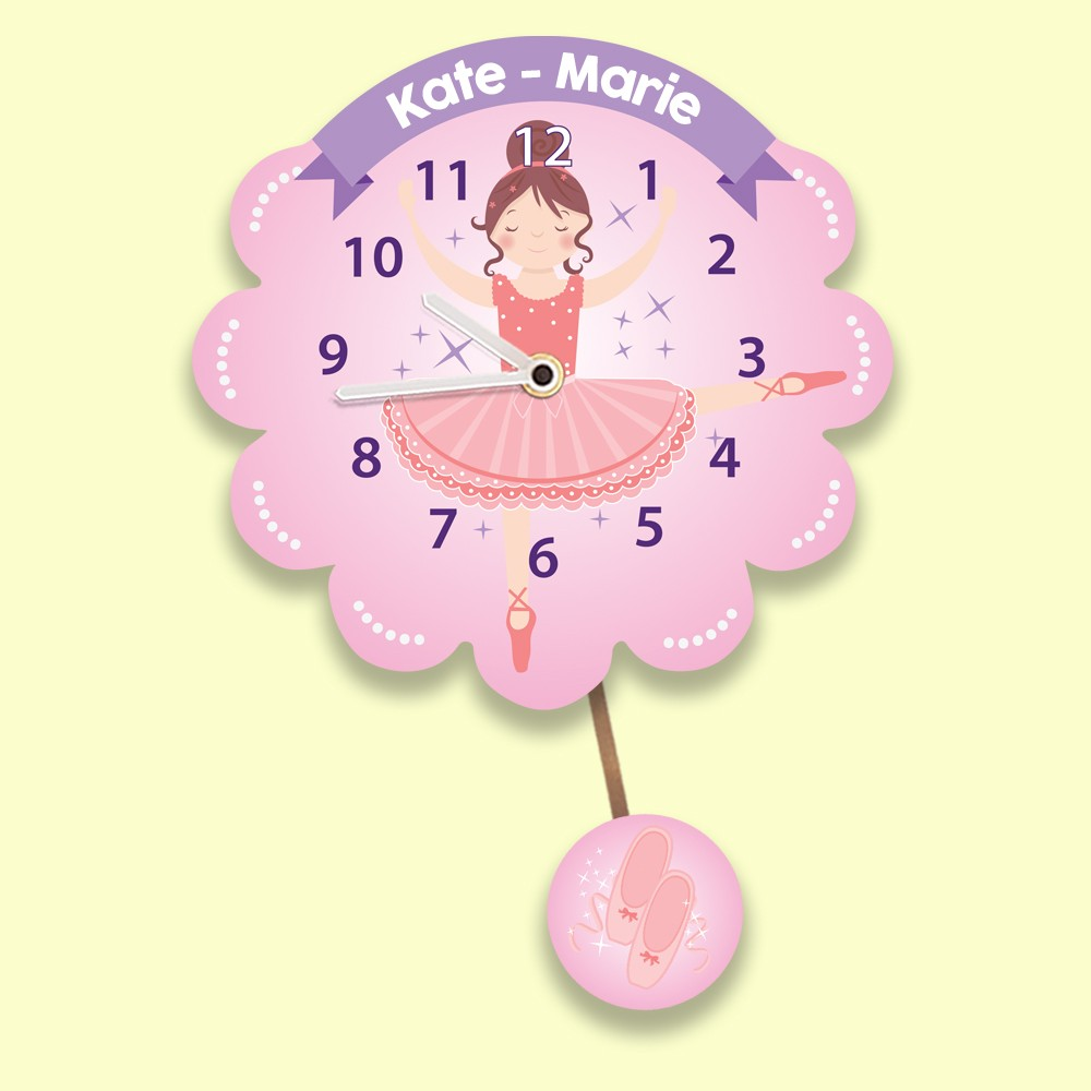 Bespoke Ballerina Childrens Wall Clock