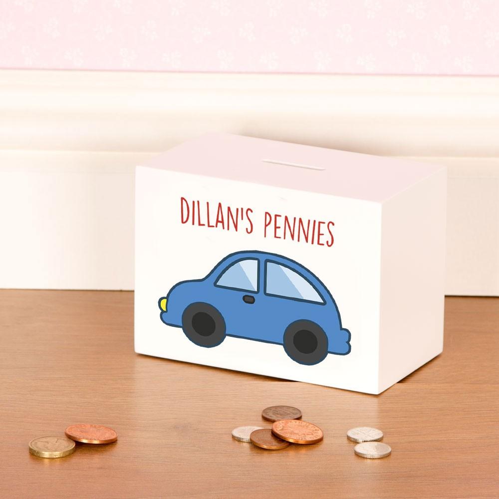 Baby Boy Car Design Customised Money Box