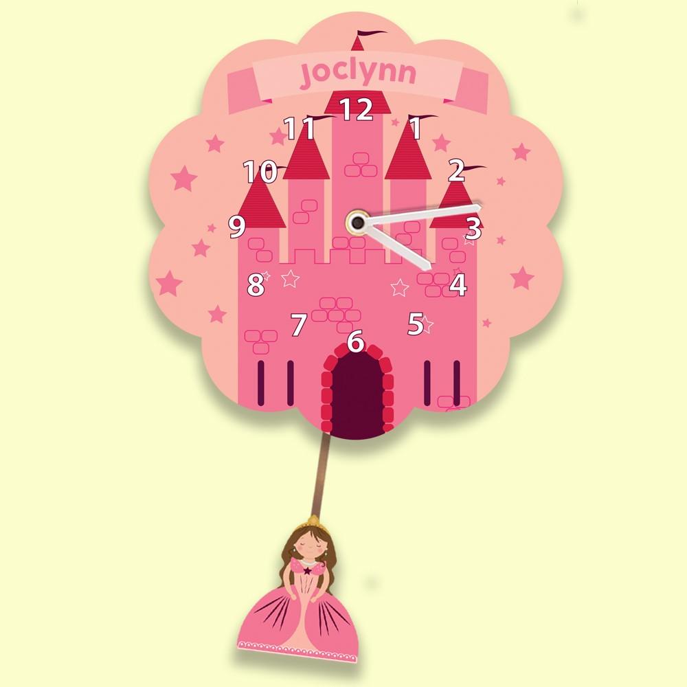 Princess Castle Girls Silent Wall Clock