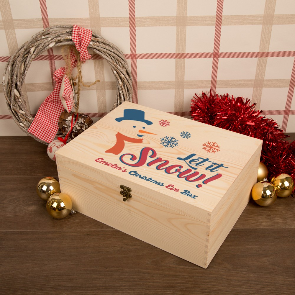 Snowman Personalised Christmas Eve Box for Kids