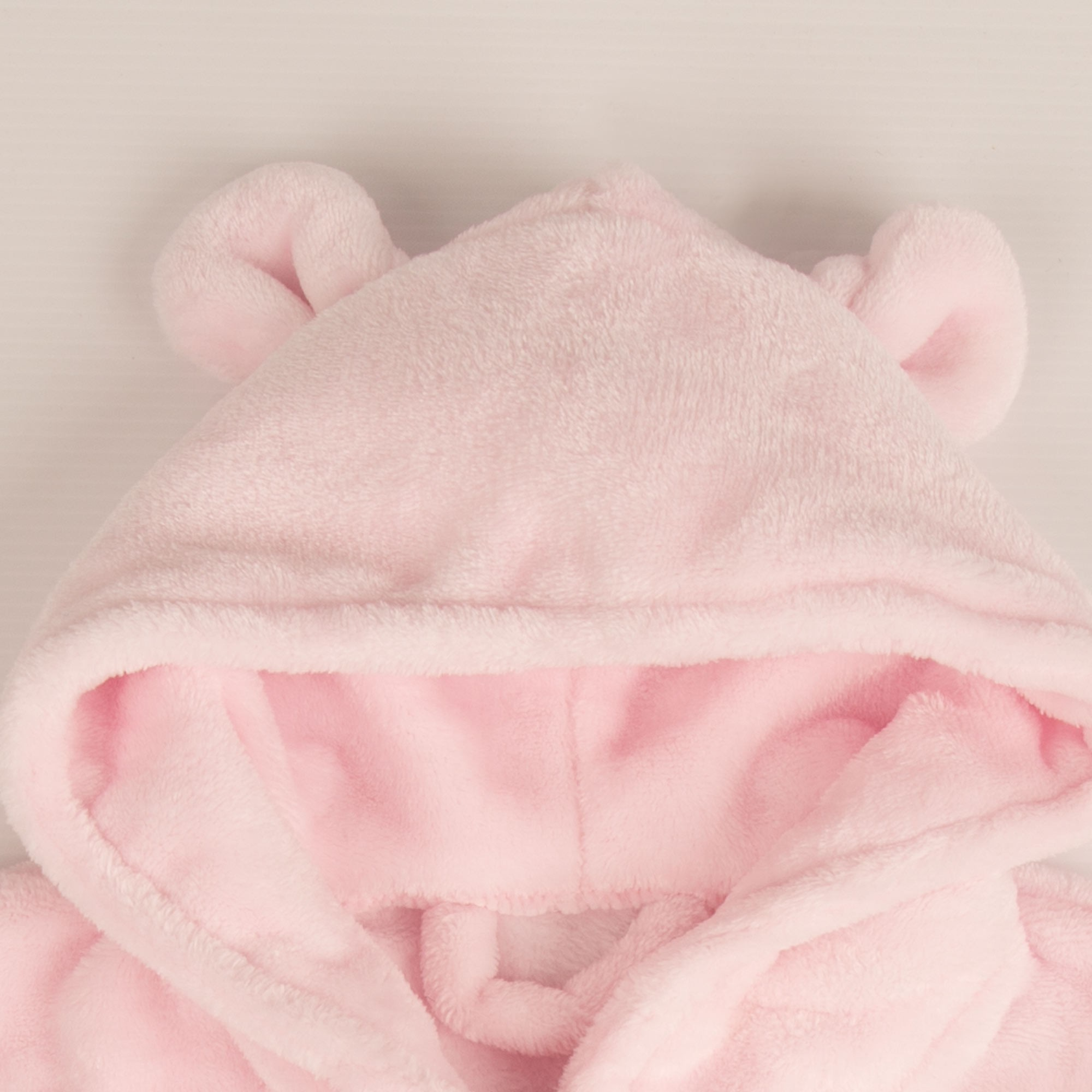 Baby Girls First Bathrobe. Personalised. Pink. Birth to 6 Months