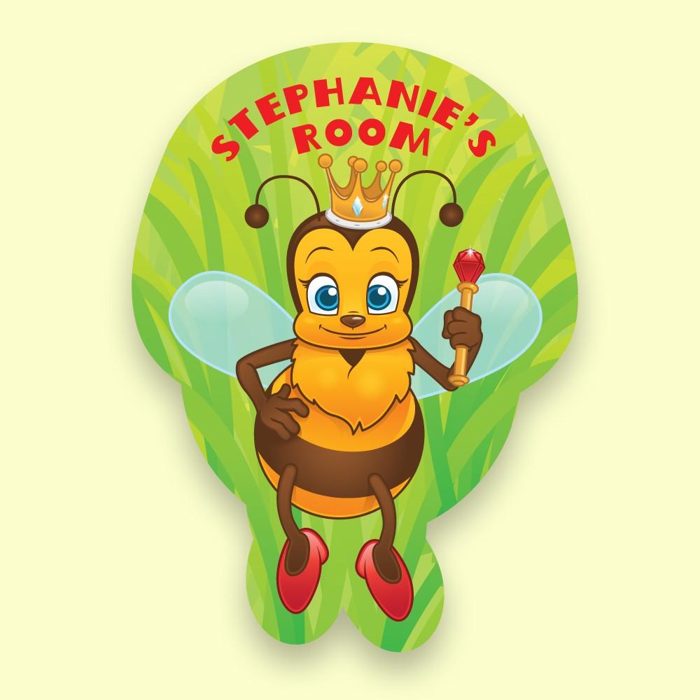 Queen Bee Personalised Bedroom Dooplaque for Girls