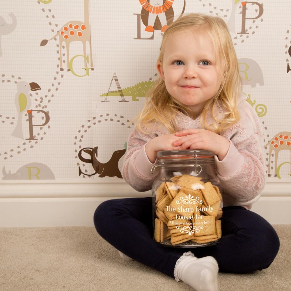 Personalised Engraved Family Cookie Jar