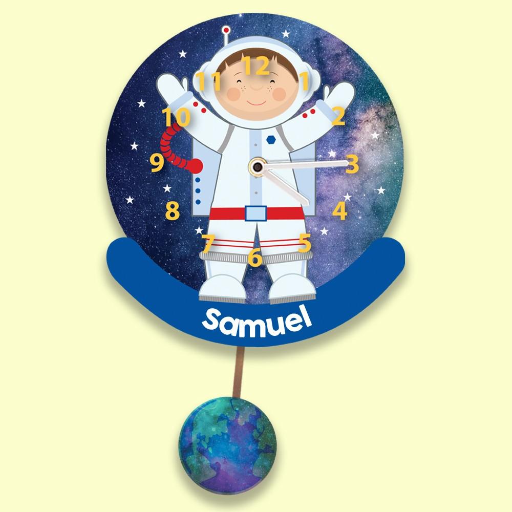 Unique Astronaut Kids Silent Wall Clock