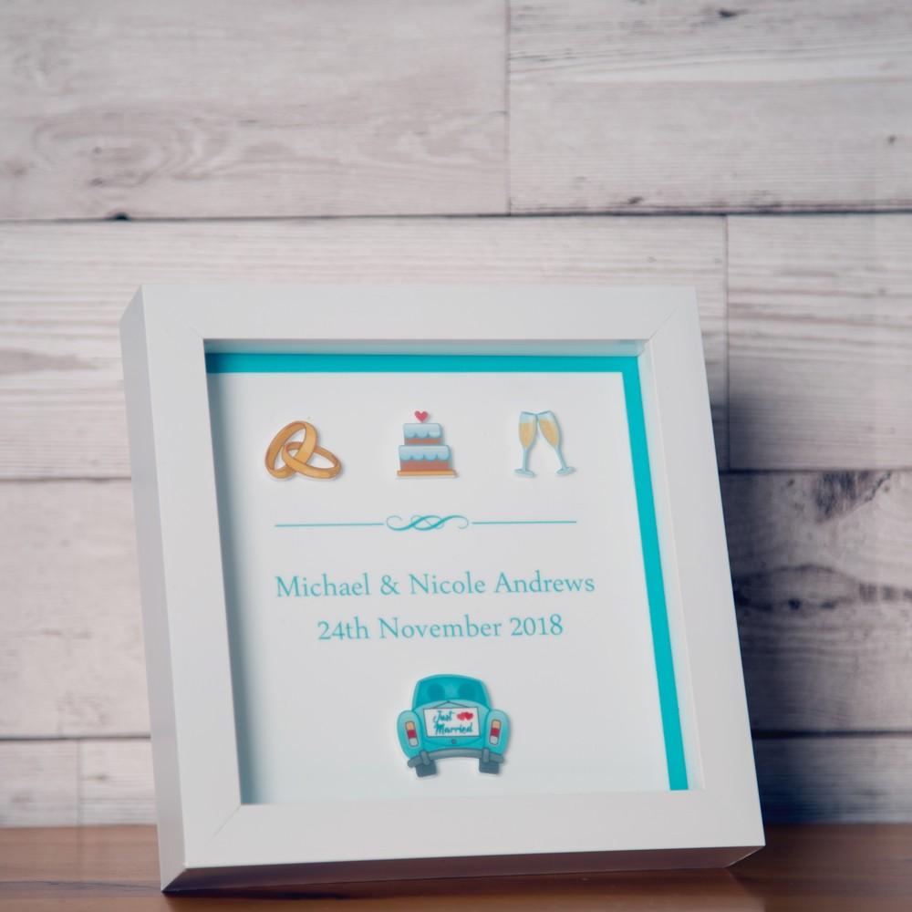 Personalised 3D Wedding Keepsake Box Frame