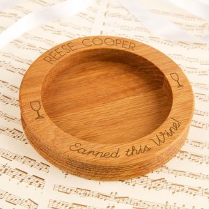 Personalised Earned This Wine Wooden Bottle Coaster