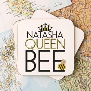 Customised Queen Bee Drinks Coaster