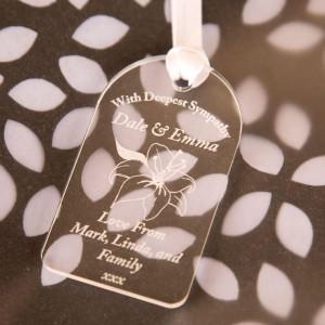 Laser Engraved Deepest Sympathy Gift Tag