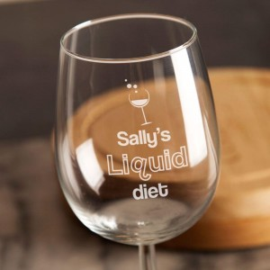 Novelty Liquid Diet Wine Glass