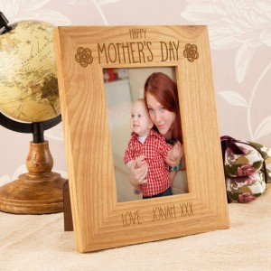 Unique Mothers Day Oak Engraved Frame