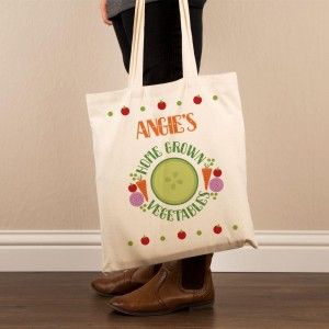 Customised Home Grown Veg Tote