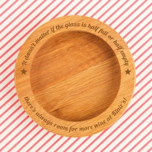 Personalised Half Full or Empty Wine Bottle Coaster