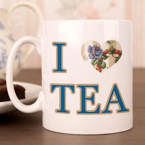 I Heart Tea Floral Mug