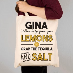 Tequila Themed Custom Made Tote Bag