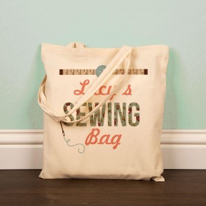 Printed Sewing Storage Tote Bag