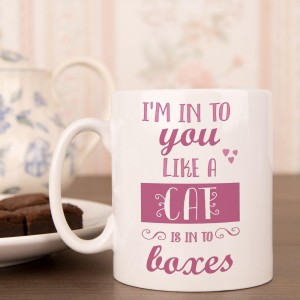 Personalised Im Into You Like A Cat Is Into Boxes Mug